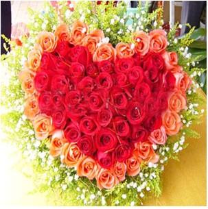 玫瑰花扇形花束包装图解
